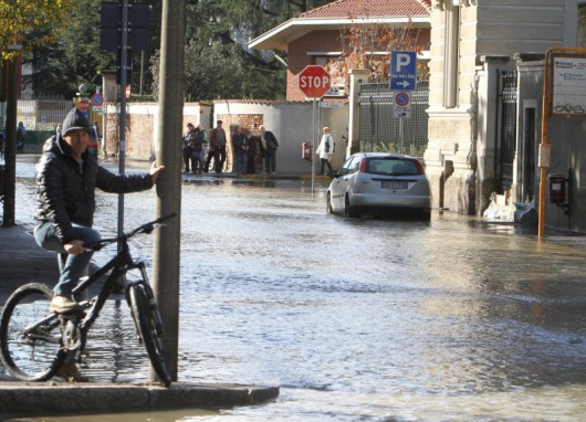 Włochy - Zalane ulice Mediolanu 2