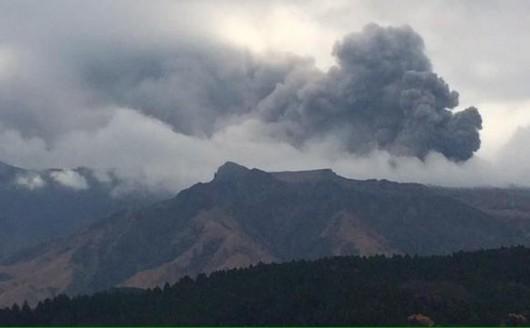 Wulkan Aso, Japonia - Ogromna erupcja największego aktywnego wulkanu w tym kraju 1