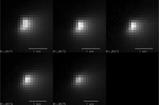 Zdjęcia jądra komety wykonane w ciągu 35 minut z pomocą kamery HiRISE /NASA/JPL-Caltech/University of Arizona /