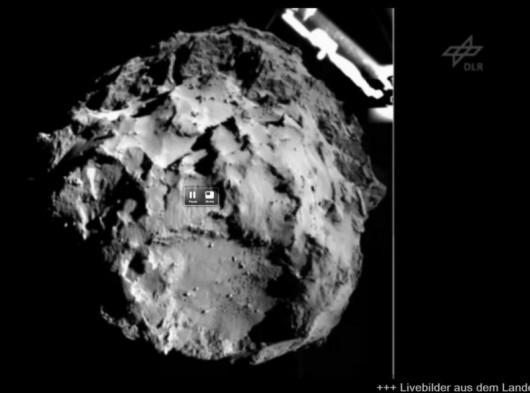 Zdjęcie wykonane z odległości ok. 3 km od komety. Wykonał je aparat ROLIS
