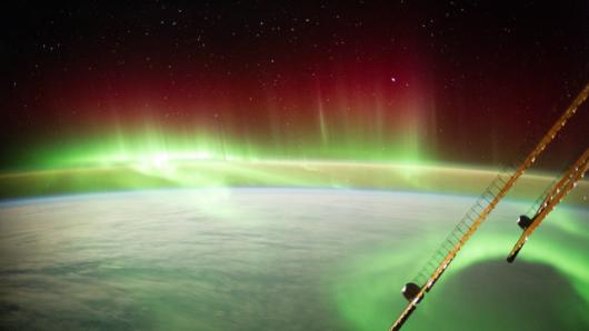 Zorza polarna nad Nową Zelandią z pokładu ISS