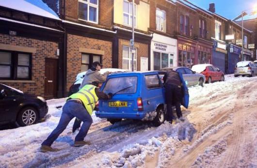 Śnieżyce w Wielkiej Brytanii i Francji 1