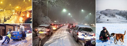 aa snow gridlock sheffield