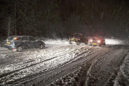 Śnieżyce w Wielkiej Brytanii i Francji 4