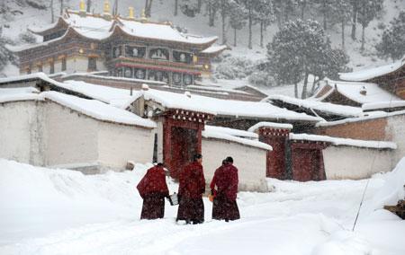Śnieg, Tybet
