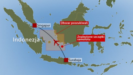 Airbus linii AirAsia rozbił się u wybrzeży wyspy Borneo