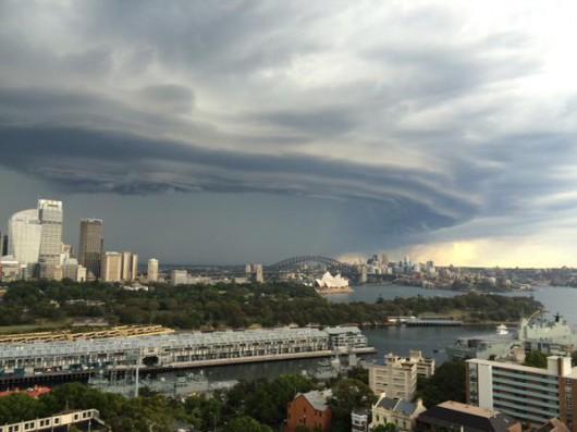 Australia - Dwie komórki burzowe przeszły nad Sydney 2