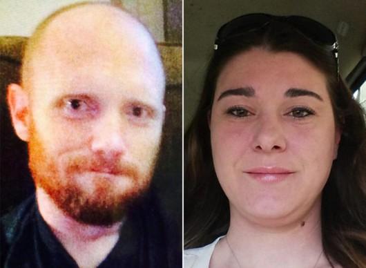 Bradley William Kamień (l.) jest poszukiwany przez policję pod zarzutem zabicia jego byłej żony Nicole Hill, i pięciu innych osób