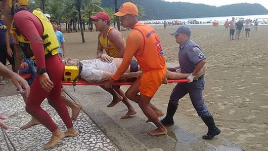 Brazylia - Gwałtowna burza, piorun zabił 4 osoby i ranił kolejne 4 na popularnej plaży w mieście Praia Grande