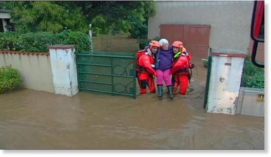 Francja - Powódź dziesięciolecia i klęska żywiołowa na południu kraju 1