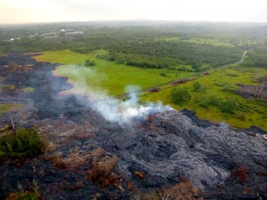 Hawaje, USA - Lawa z wulkanu Kilauea 3