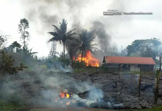 Hawaje, USA - Lawa z wulkanu Kilauea 5
