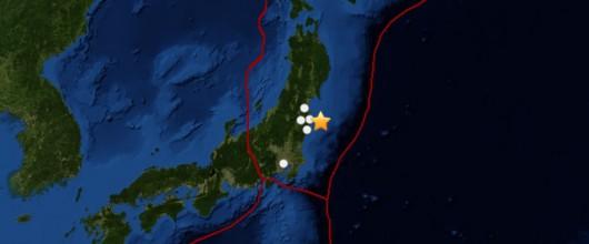 Japonia - Silny wstrząs