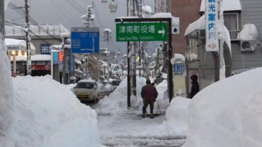 Japonia - W ciągu doby w spadł ponad metr śniegu 6