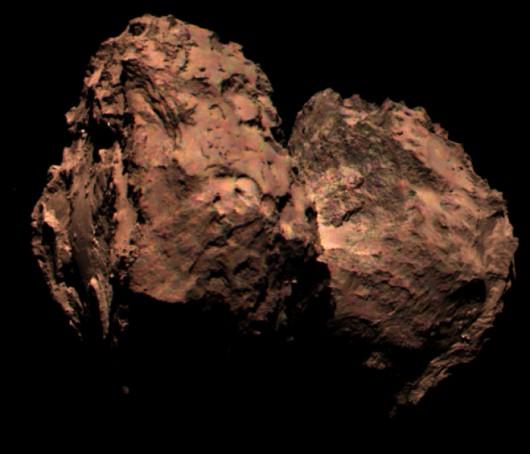 Kometa 67P Czuriumow-Gierasimienko - kolor