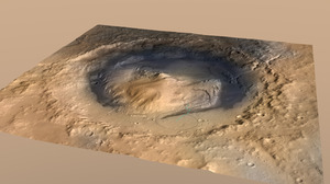 Mount Sharp w kraterze Gale /NASA/JPL-Caltech/ESA/DLR/FU Berlin/MSSS /