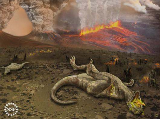 Przyczyną wymierania dinozaurów mogła być aktywność wulkaniczna