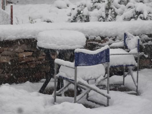 Rosja - Burza śnieżna nad Moskwą, całe miasto zakorkowane 2