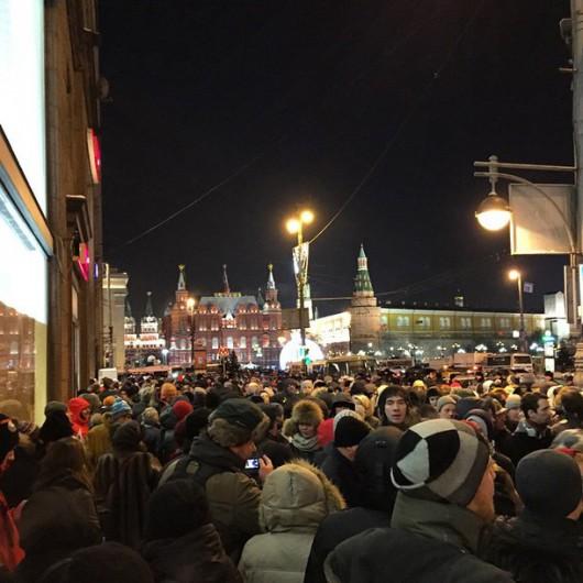 Rosja - Manifestacje w Moskwie, prawie 250 osób zatrzymanych