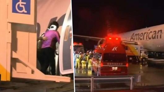 Samolot linii American Airlines z 255 osobami na pokładzie wleciał w silną burzę nad Japonią