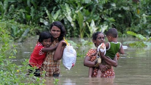 Sri Lanka - Ulewne deszcze sparaliżowały komunikację drogową