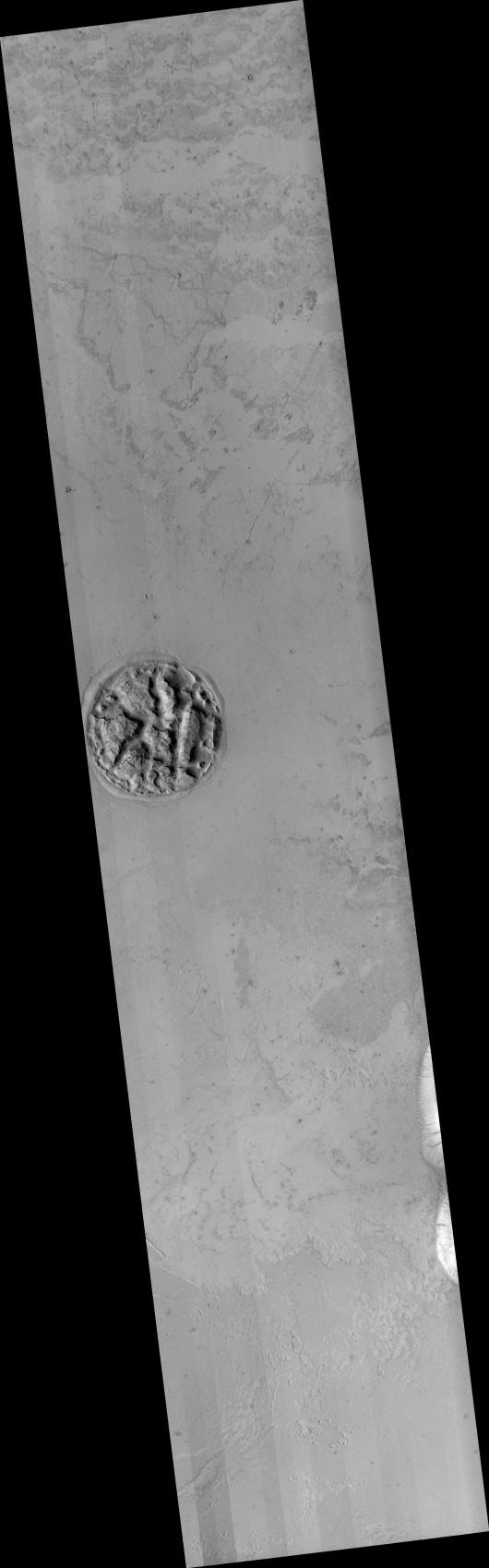 Tajemnicza struktura na Marsie 2