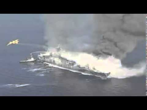 Włochy - Pożar na promie na Morzu Jońskim 1