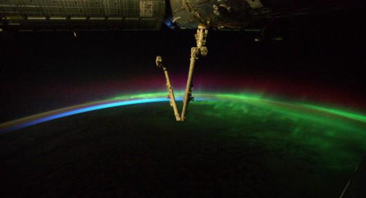Zorza z perspektywy ISS