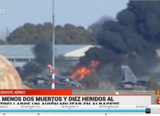 Albacete, Hiszpania - W bazie treningowej rozbił się grecki myśliwiec F-16 3