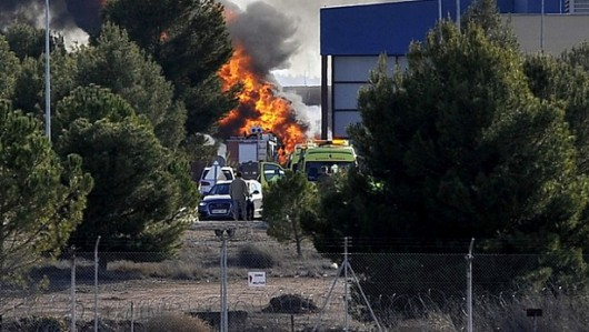 Albacete, Hiszpania - W bazie treningowej rozbił się grecki myśliwiec F-16