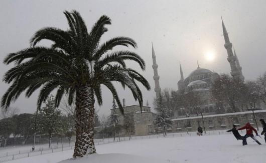 Arabia Saudyjska - Na pustyni mocno sypnęło śniegiem 1