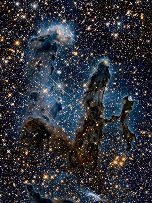 Filary Stworzenia obserwowane w promieniowaniu podczerwonym /NASA, ESA, Hubble Heritage Team (STScI/AURA) /