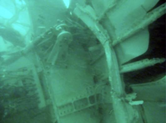 Fragment wraku airbusa A320-200 spoczywającego na dnie morza