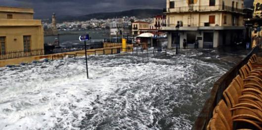 Grecja - Silny wiatr i ogromne ulewy na Krecie 3