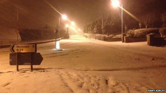 Irlandia Północna - Z powodu intensywnych opadów śniegu zamknięto ponad 200 szkół 2
