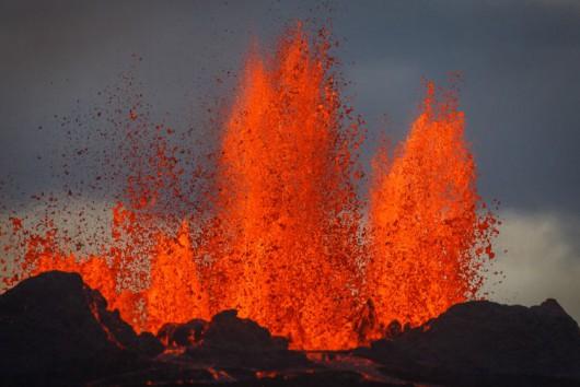Islandia - Coraz większe jezioro lawy z wulkanu Bárðarbunga 2