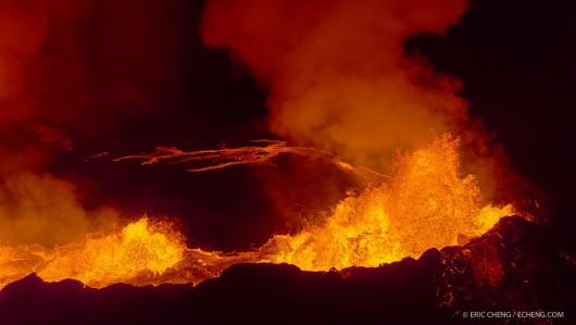 Islandia - Coraz większe jezioro lawy z wulkanu Bárðarbunga 3