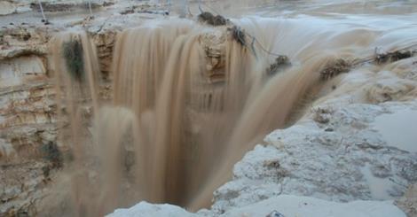 Izrael - Deszcze w okolicach pustyni Negew spowodowały odrodzenie się rzeki Zin 1
