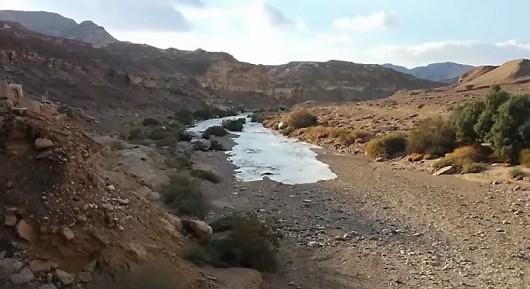 Izrael - Deszcze w okolicach pustyni Negew spowodowały odrodzenie się rzeki Zin 3