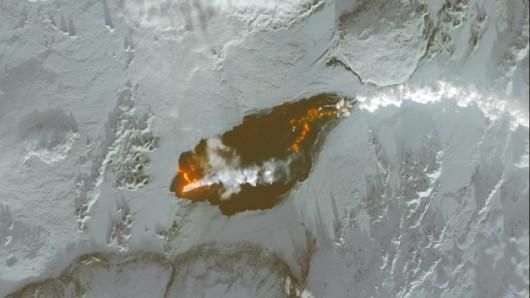 Lawa z wulkanu Bardarbunga widziana z kosmosu / NASA