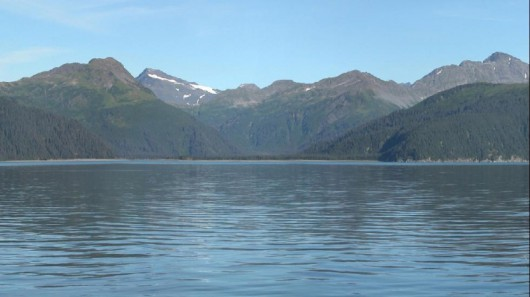 Lodowiec McCarty w 2004 roku - Alaska