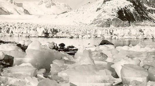 Lodowiec Northwestern w 1940 roku - Alaska