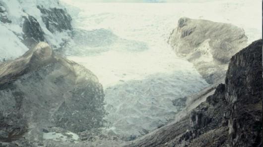 Lodowiec Qori Kalis w 1978 roku - Peru