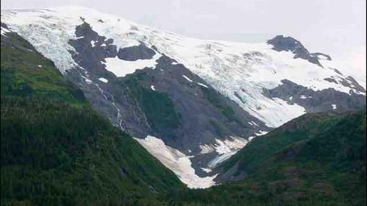 Lodowiec Toboggan w 2000 roku - Alaska