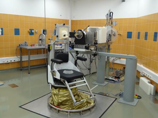 Stanowisko do terapii protonowej czerniaka gałki ocznej w IFJ PAN w Bronowicach w Krakowie
