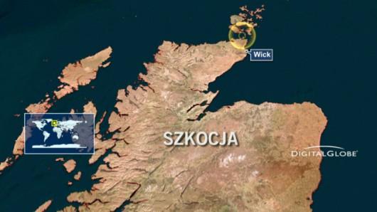 Statek zatonął u północnych wybrzeży Szkocji