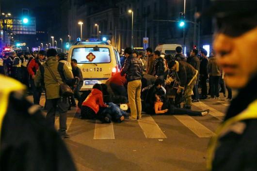 Szanghaj, Chiny - 36 osób zostało zdeptanych ze skutkiem śmiertelnym przez tłum podczas Sylwestra, 47 osób zostało rannych 2