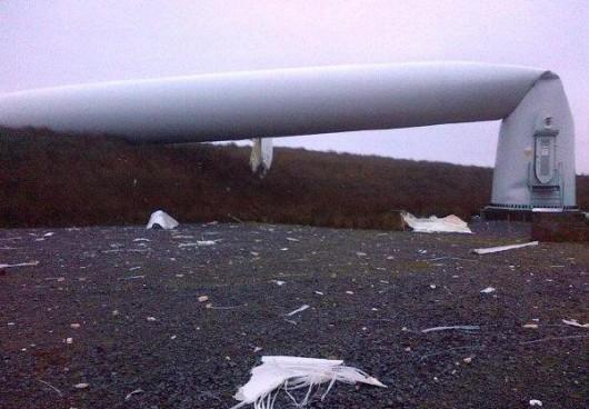Tyrone, Irlandia - Runęła jedna z największych turbin wiatrowych 2