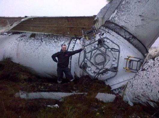 Tyrone, Irlandia - Runęła jedna z największych turbin wiatrowych 4