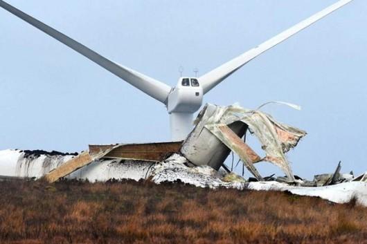 Tyrone, Irlandia - Runęła jedna z największych turbin wiatrowych 6